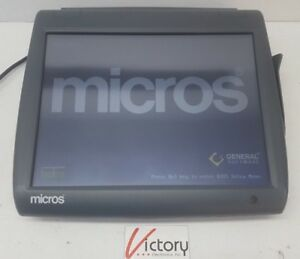 Used Micros Workstation 5 System Unit 400814 001 touch Screen w windows v 02