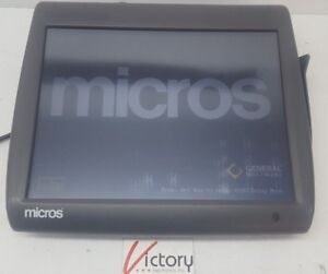Used Micros Workstation 5 System Unit 400814 001 touch Screen w windows v 03