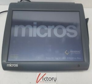 Used Micros Workstation 5 System Unit 400814 001 touch Screen w windows v 04