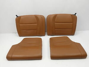 2001 Porsche 911 Turbo 996 1055 Rear Seats Leather Natural Brown