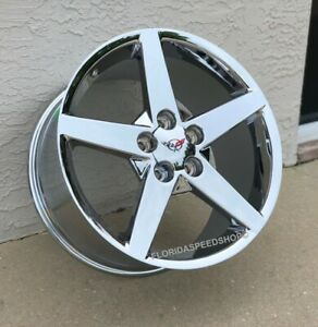 Triple Chrome C6 Style Corvette Wheels For 1997 2004 C5 17x8 5 18x9 5 Set