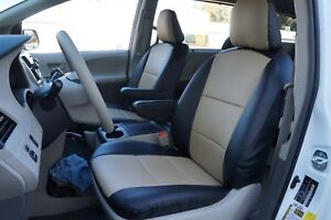 S Leather Custom Fit Seat Covers For Toyota Sienna 2011 2018 13 Colors Available