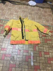 Firefighter Gear Turnout Jacket Lion Apparel Janesville 46 32 Use Or Costume