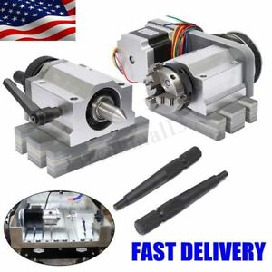 Cnc Lathe Router Rotary Engraving Axis A axis 4th axis 3 Claw Chunk Tailstock