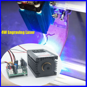 Focusable High Power 450nm 4w Blue Laser Module Ttl Carving burning Gift Goggles
