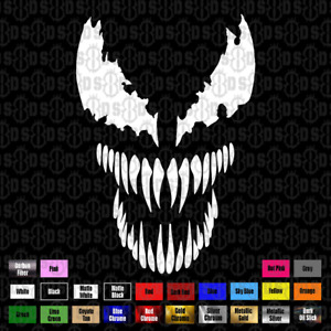 Venom Decal For Laptop Helmet Window Wall Car Truck Boat Hood Multiple Sizes