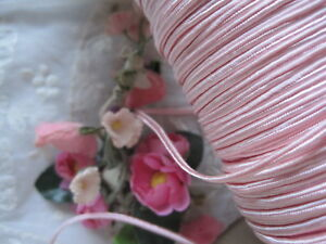 Vintage Pretty Pink Soutache Trim Tiny Dolls Ribbon Work 5 Yards
