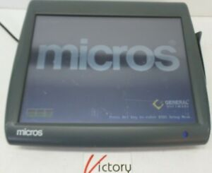 Used Micros Workstation 5 System Unit 400814 001 touch Screen w windows v 07