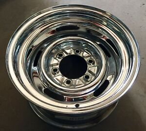 Chevy Gmc Pick Up Truck Chrome 6 Lug Rally Wheel 15x8 C10 Single Spare J15109