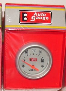 Volts 0 16 Auto Battery Gauge Meter Silver Face 2 5 8