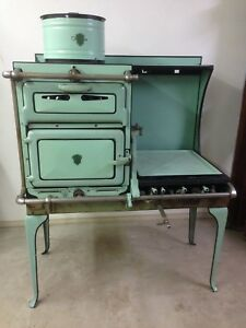 Vintage Antique Gas Stove 1920 S Chambers With Thermodome Mint Green