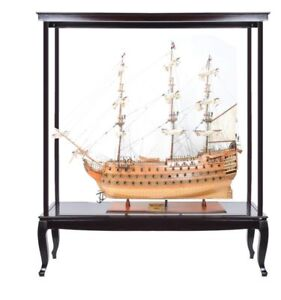 Hms Victory Admiral Nelson Flagship Tall Ship 58 Wood Model W Display Assembly