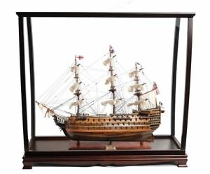 Hms Victory Admiral Nelson Flagship Tall Ship Wood Model W Display Assembled