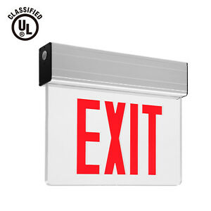 Red Led Exit Sign Ul listed Emergency Light Battery Included Pack Of 1 2 6