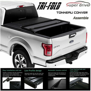 Fits 2007 2013 Chevy Silverado Assemble Soft Tri fold Lock Tonneau Cover 8ft Bed