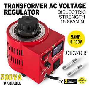 Variac Transformer Variable Ac Voltage Regulator 500w 1500v min 5amp 0 130v