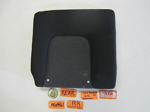 2003 03 Tiburon Right Passenger Side Rear Seat Back Upper Top Black Cloth Car Rh