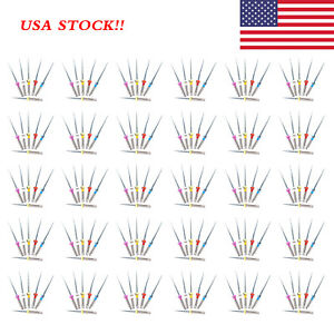 100pack Dental Rotary Universal Engine Root Canal Niti Files Assorted 19