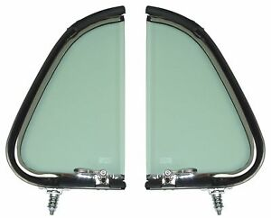 1951 Ford Pickup Vent Window Assemblies Ford Truck Stainless Clear Glass