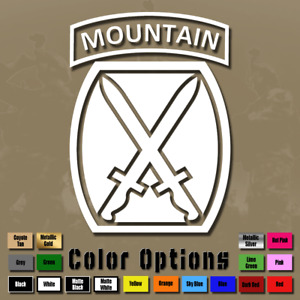 10th Mountain Division Vinyl Decal Sticker Window Us Army Usa Military Ms 048