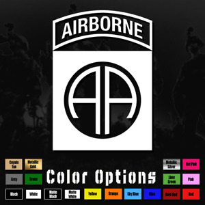 82nd Airborne Division Decal Sticker All American Vinyl Window Military Ms 050