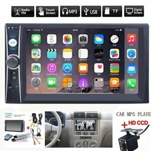 2din 7 Hd Car Stereo Radio Mp5 Player Bluetooth Touch Screen With Rear Camera Fits 2013 Camry