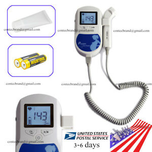 Fda 3mhz Prenetal Fetal Doppler Baby Fetus Heart Monitor Backlight Lcd us Seller