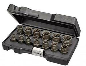 Bolt Nut Extractor Set Remover Damaged Rusted Socket Impact Wrench Tool 13 Pc