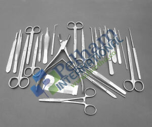 Set Of 78 Pcs Micro Surgery Surgical Veterinary Dental Instruments Studen