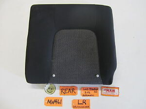 03 Tiburon Gs Left Driver Side Back Rear Seat Upper Top Black Cloth Car Gt Oem L