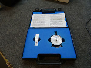 Shore D Durometer Astm D2240 Hardness Tester Mint In Box With Test Block