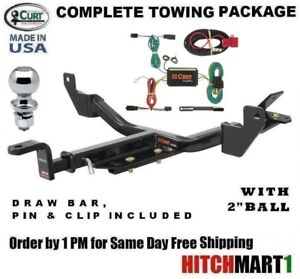 Curt Trailer Hitch Package W 2 Ball For 2013 2014 Chevy Malibu 121153
