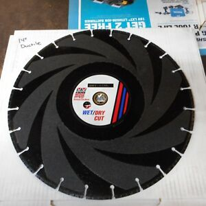 14 Inch Ductile Iron Pipe Diamond Saw Blade Laser Welded