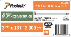 Paslode 3 1 4 In X 0 131 gauge 30 Galvanized Smooth Shank Paper Tape Framing