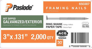 Paslode 3 In X 0 131 gauge 30 Galvanized Ring Shank Paper Tape Framing Nails