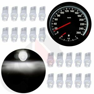 20x T10 194 White Led Bulb Dash Instrument Cluster Gauge Light Lamps For Ford