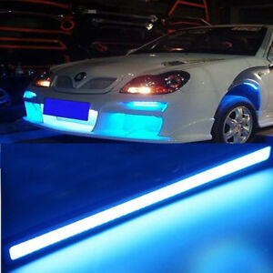 17cm Car Working Lights Cob Led Drl Driving Daytime Running Light Strip Ice Blue