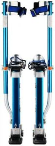 Adjustable Height Blue Drywall Stilts 18 In To 30 In aluminum Construction New
