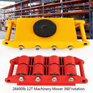 12t 26400lb 360 Machinery Skate Mover 360 rotation Durable Rotating Rollers Usa