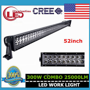 Slim 52inch 300w Led Work Light Bar Offroad Rzr 4x4wd Ford Combo Lamp Jeep 48 52