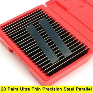 Thin 1 32 Parallel Set 20 Pair Ultra Hardened Precision 0 0001 Milling Tool