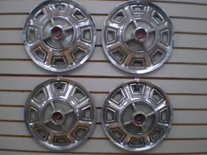 1966 Ford Fairlane Spinner Wheelcover Wheel Covers Hubcaps Oem Set 66