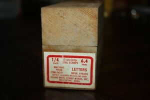 Young Brothers Steel Hand Stamps Machine Made 1 4 Letters 6 4mm Item 06271
