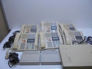 Nortel Norstar Phone System Startalk Flash 2 Channel Ntab24556 With 6 Phone Sets
