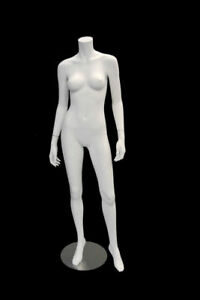 Used Showroom Sample Matte White Headless Female Mannequin