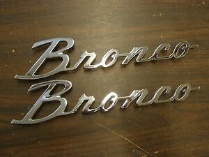 New Repro 1966 1977 Ford Bronco Emblems Scripts 1967 1968 1969 1970 1971 1972