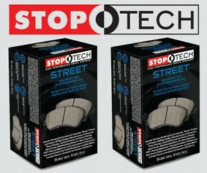 front Rear Set Stoptech Street Performance Brake Pads w brembo Stp9347