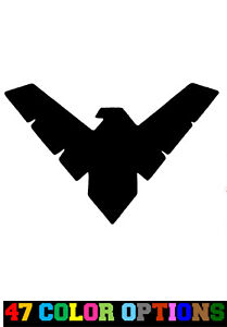 Decal Vinyl Truck Car Sticker Dc Comics Batman Nightwing Logo