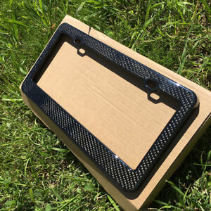Universal Real Carbon Fiber License Plate Holder Frame For Car With 3k Twill