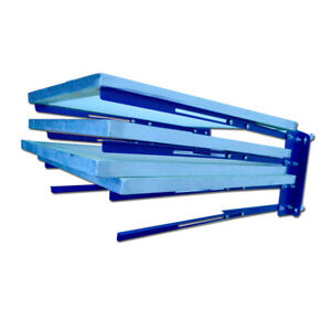 Silk Screen Printing Storage Rack Wall Mounted Frame Holder Adjustable Width
